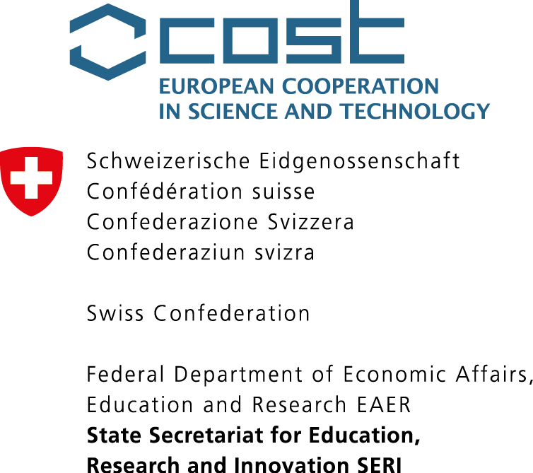 COST Switzerland - SERI - The State Secretariat for Education, Research and Innovation LOGO